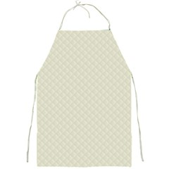 Rich Cream Stitched And Quilted Pattern Full Print Aprons by PodArtist