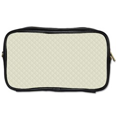 Rich Cream Stitched And Quilted Pattern Toiletries Bags 2 Side by PodArtist