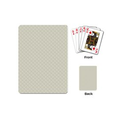 Rich Cream Stitched And Quilted Pattern Playing Cards (mini)  by PodArtist