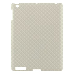 Rich Cream Stitched And Quilted Pattern Apple Ipad 3/4 Hardshell Case by PodArtist
