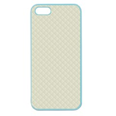 Rich Cream Stitched And Quilted Pattern Apple Seamless Iphone 5 Case (color) by PodArtist