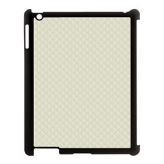Rich Cream Stitched And Quilted Pattern Apple Ipad 3/4 Case (black) by PodArtist
