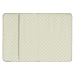 Rich Cream Stitched And Quilted Pattern Samsung Galaxy Tab 8 9  P7300 Flip Case by PodArtist