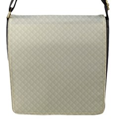 Rich Cream Stitched And Quilted Pattern Flap Messenger Bag (s) by PodArtist