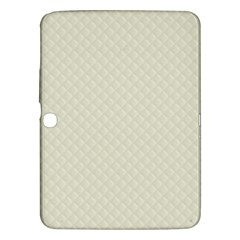 Rich Cream Stitched And Quilted Pattern Samsung Galaxy Tab 3 (10 1 ) P5200 Hardshell Case  by PodArtist