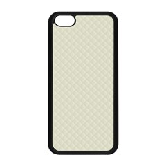 Rich Cream Stitched And Quilted Pattern Apple Iphone 5c Seamless Case (black) by PodArtist