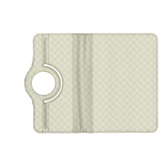 Rich Cream Stitched And Quilted Pattern Kindle Fire Hd (2013) Flip 360 Case by PodArtist