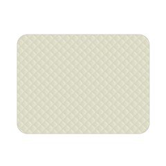 Rich Cream Stitched And Quilted Pattern Double Sided Flano Blanket (mini)  by PodArtist
