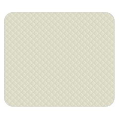 Rich Cream Stitched And Quilted Pattern Double Sided Flano Blanket (small)  by PodArtist