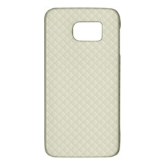 Rich Cream Stitched And Quilted Pattern Galaxy S6 by PodArtist