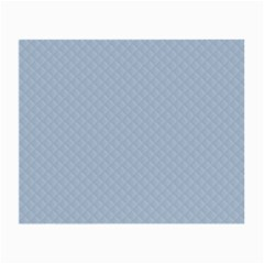 Powder Blue Stitched And Quilted Pattern Small Glasses Cloth (2 Side) by PodArtist