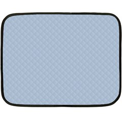 Powder Blue Stitched And Quilted Pattern Fleece Blanket (mini) by PodArtist