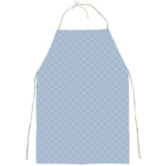 Powder Blue Stitched And Quilted Pattern Full Print Aprons by PodArtist