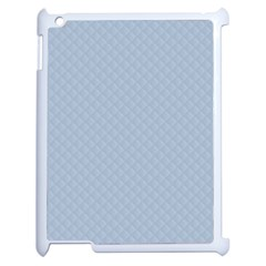 Powder Blue Stitched And Quilted Pattern Apple Ipad 2 Case (white) by PodArtist