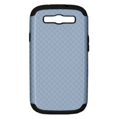Powder Blue Stitched And Quilted Pattern Samsung Galaxy S Iii Hardshell Case (pc+silicone) by PodArtist
