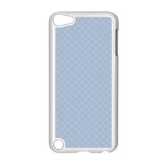 Powder Blue Stitched And Quilted Pattern Apple Ipod Touch 5 Case (white) by PodArtist