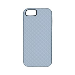 Powder Blue Stitched And Quilted Pattern Apple Iphone 5 Classic Hardshell Case (pc+silicone) by PodArtist