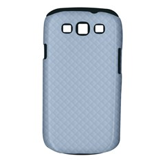 Powder Blue Stitched And Quilted Pattern Samsung Galaxy S Iii Classic Hardshell Case (pc+silicone) by PodArtist