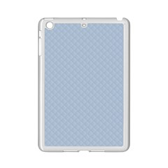 Powder Blue Stitched And Quilted Pattern Ipad Mini 2 Enamel Coated Cases by PodArtist