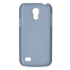 Powder Blue Stitched And Quilted Pattern Galaxy S4 Mini by PodArtist