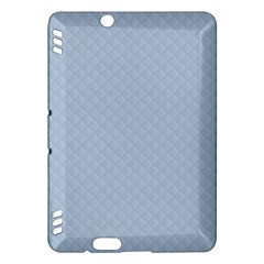 Powder Blue Stitched And Quilted Pattern Kindle Fire Hdx Hardshell Case by PodArtist