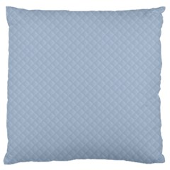 Powder Blue Stitched And Quilted Pattern Large Flano Cushion Case (one Side) by PodArtist