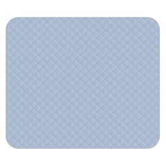Powder Blue Stitched And Quilted Pattern Double Sided Flano Blanket (small)  by PodArtist