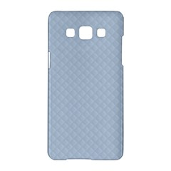 Powder Blue Stitched And Quilted Pattern Samsung Galaxy A5 Hardshell Case  by PodArtist