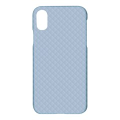 Powder Blue Stitched And Quilted Pattern Apple Iphone X Hardshell Case