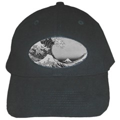 Black And White Japanese Great Wave Off Kanagawa By Hokusai Black Cap