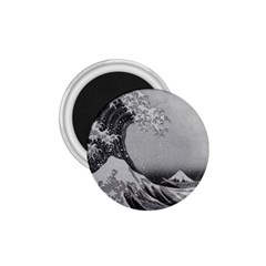 Black And White Japanese Great Wave Off Kanagawa By Hokusai 1 75  Magnets by PodArtist
