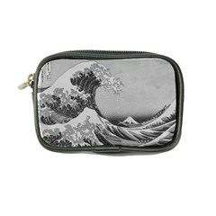 Black And White Japanese Great Wave Off Kanagawa By Hokusai Coin Purse by PodArtist