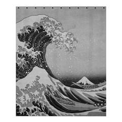 Black And White Japanese Great Wave Off Kanagawa By Hokusai Shower Curtain 60  X 72  (medium)  by PodArtist