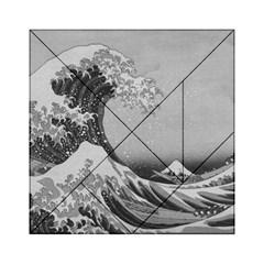 Black And White Japanese Great Wave Off Kanagawa By Hokusai Acrylic Tangram Puzzle (6  X 6 ) by PodArtist