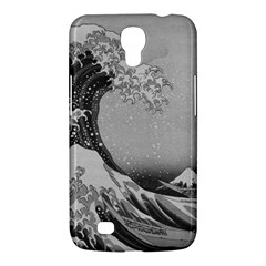 Black And White Japanese Great Wave Off Kanagawa By Hokusai Samsung Galaxy Mega 6 3  I9200 Hardshell Case by PodArtist