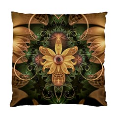 Beautiful Filigree Oxidized Copper Fractal Orchid Standard Cushion Case (two Sides) by beautifulfractals
