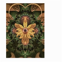 Beautiful Filigree Oxidized Copper Fractal Orchid Large Garden Flag (two Sides) by jayaprime