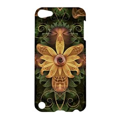Beautiful Filigree Oxidized Copper Fractal Orchid Apple Ipod Touch 5 Hardshell Case by jayaprime