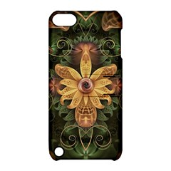 Beautiful Filigree Oxidized Copper Fractal Orchid Apple Ipod Touch 5 Hardshell Case With Stand by jayaprime