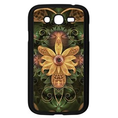 Beautiful Filigree Oxidized Copper Fractal Orchid Samsung Galaxy Grand Duos I9082 Case (black) by beautifulfractals