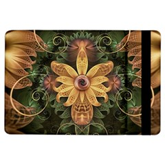 Beautiful Filigree Oxidized Copper Fractal Orchid Ipad Air Flip by jayaprime