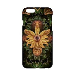 Beautiful Filigree Oxidized Copper Fractal Orchid Apple Iphone 6/6s Hardshell Case by beautifulfractals
