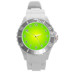 Pattern Round Plastic Sport Watch (l) by gasi