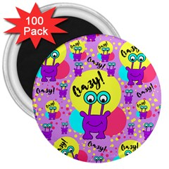 Crazy 3  Magnets (100 Pack) by gasi
