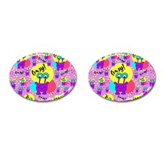 Crazy Cufflinks (oval) by gasi