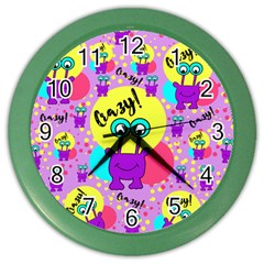 Crazy Color Wall Clocks by gasi