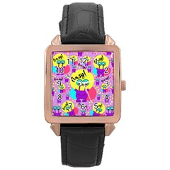Crazy Rose Gold Leather Watch  by gasi