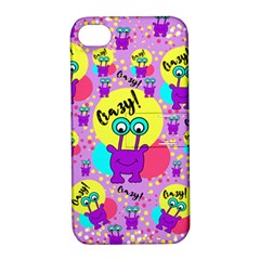 Crazy Apple Iphone 4/4s Hardshell Case With Stand by gasi