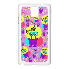 Crazy Samsung Galaxy Note 3 N9005 Case (white) by gasi