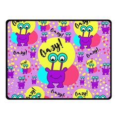 Crazy Double Sided Fleece Blanket (small)  by gasi